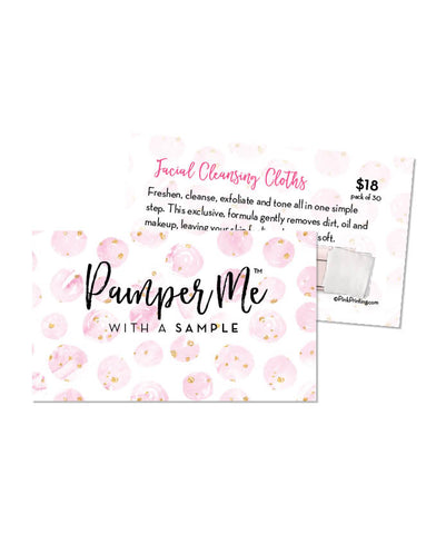 Pamper Me™ with a Sample Card (Cleansing Cloth)