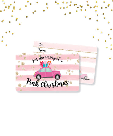 Dreaming of a Pink Christmas Gift Card