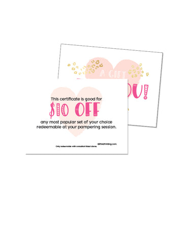 $10 Gift Certificate of a Set (NEW size)