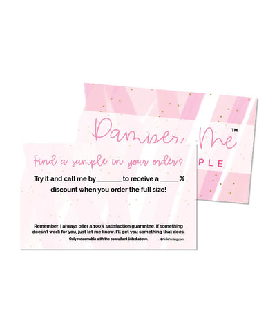 Pamper Me™ with a Sample Card