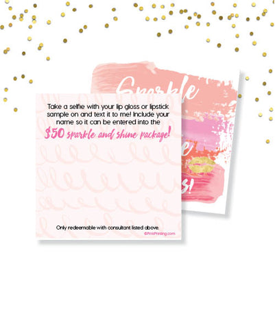 Sparkle and Shine Lip Card