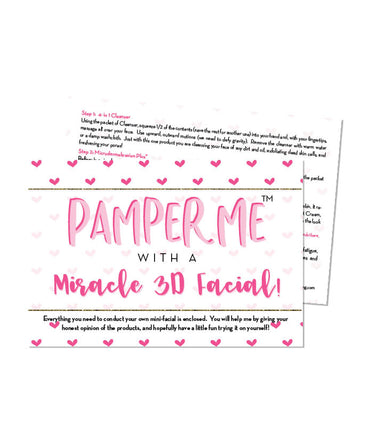 Pamper Me™ with a Miracle 3D Facial In A Bag
