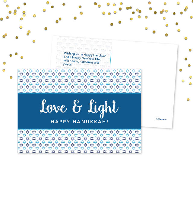 Love & Light Happy Hanukkah Postcard