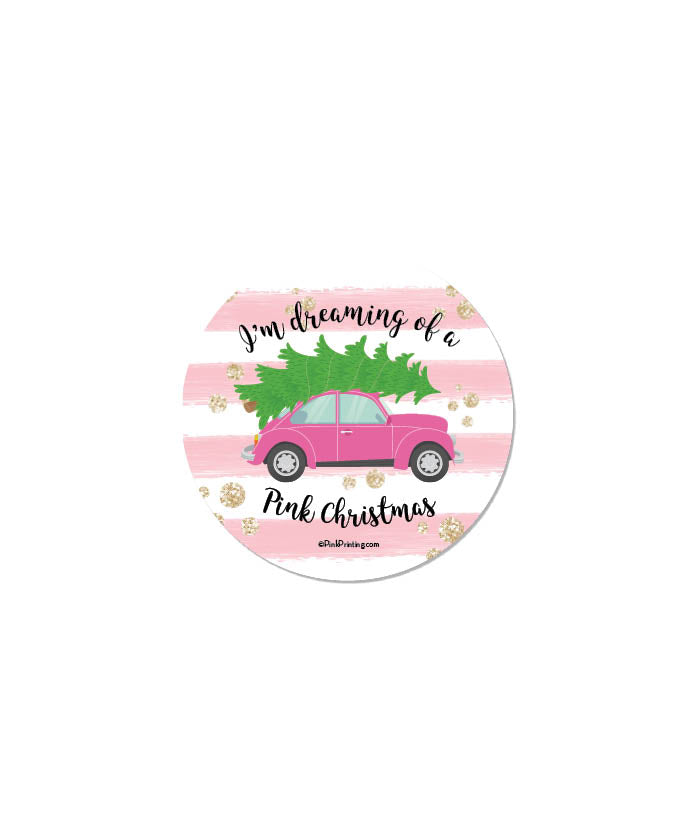 Dreaming of a Pink Christmas Sticker