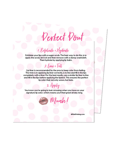 Perfect Pout (Lipstick Info card)