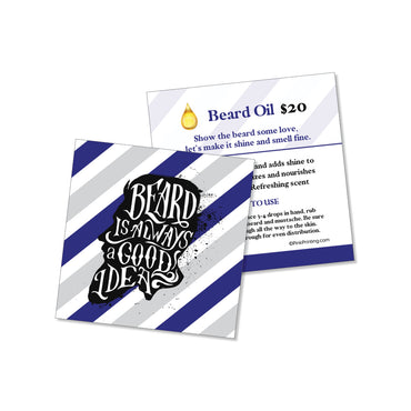 Beard Oil Info Card