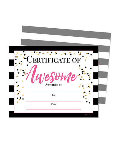 Certificate of the Awesome