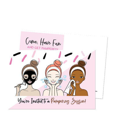 Pampering Session Invite
