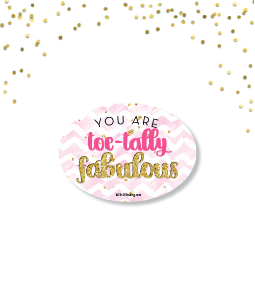 Toe-Tally Fabulous sticker