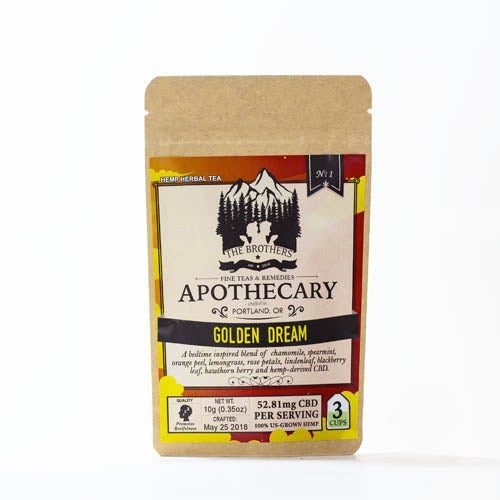 Golden Dream Fine Tea | 60 MG CBD | The Brothers Apothecary