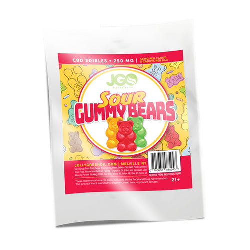 Sour Gummy Bears | 250 MG CBD | Jolly Green Oil