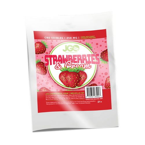 Strawberries and Cream Gummies | 250 MG CBD | Jolly Green Oil