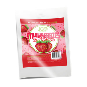 Strawberries and Cream Gummies | 250 MG | Jolly Green Oil