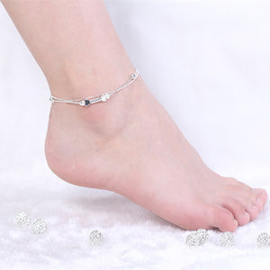 women 2018 summer 925 sterling silver foot chain anklet ankle chain