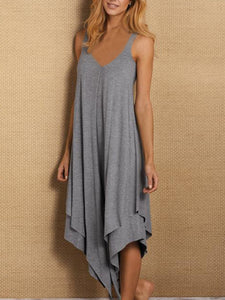 Asymmetrical Casual Sleeveless Dresses