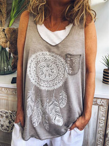 Sweet Cotton Sleeveless Shirts & Tops