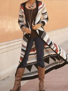 Multicolor Patchwork Casual Color-Block Knitted Sweater