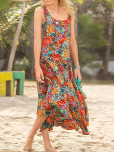 Printed Sleeveless Holiday Dresses