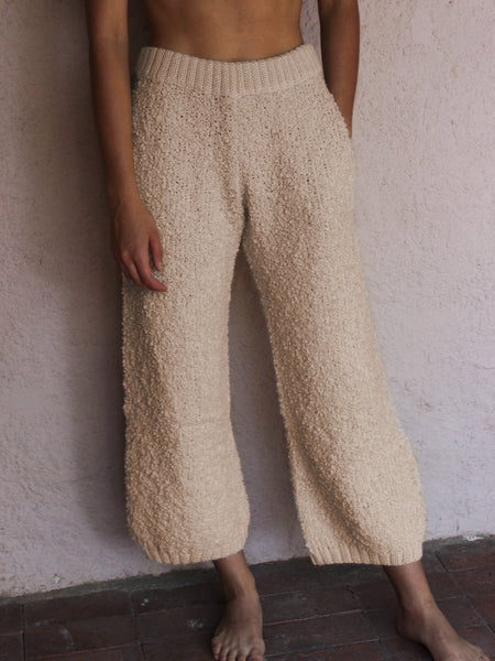 Basic Knitted Plain Pants