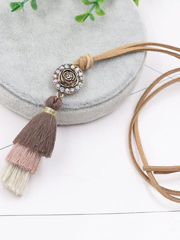 Multi-layer tassel pendant Necklace