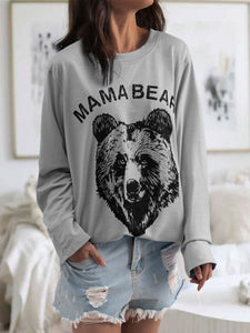 Letter long sleeve T-shirt vest