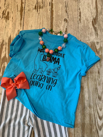 Llama Learning Toddler Tee