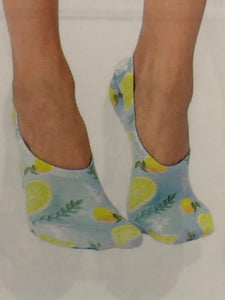 Lemon No Show Socks