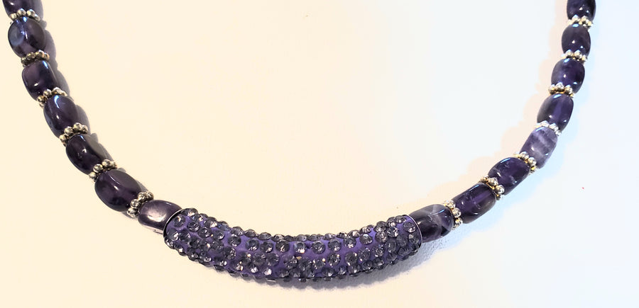 Amethyst Sparkle Necklace