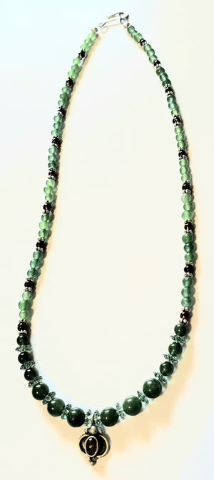 Aventurine Jade Garnet Necklace