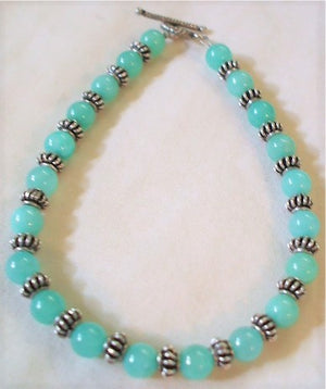 Blue Green Quartz Bracelet