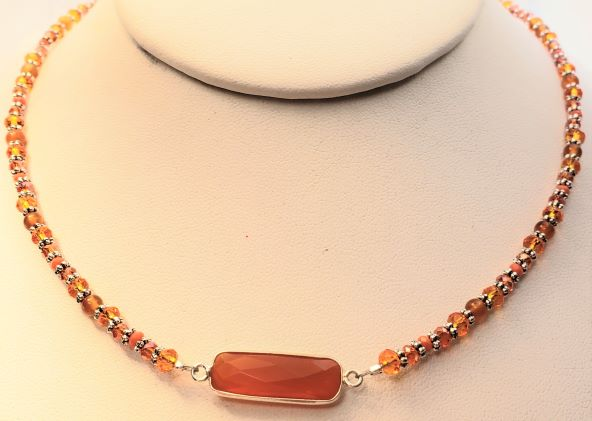 Carnelian Focal Bead Necklace