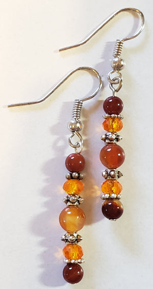 Carnelian Rondelle Earrings