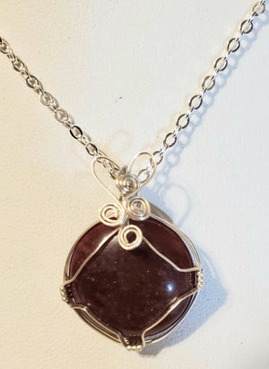 Garnet Wire Wrap Necklace 6