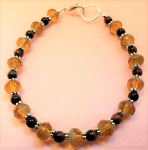 Tiger Eye Yellow Rondelle Bracelet