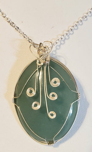 Green Aventurine Wire Wrap Necklace 6