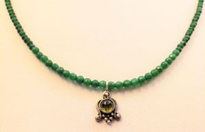 Green Aventurine Peridot Florette Necklace