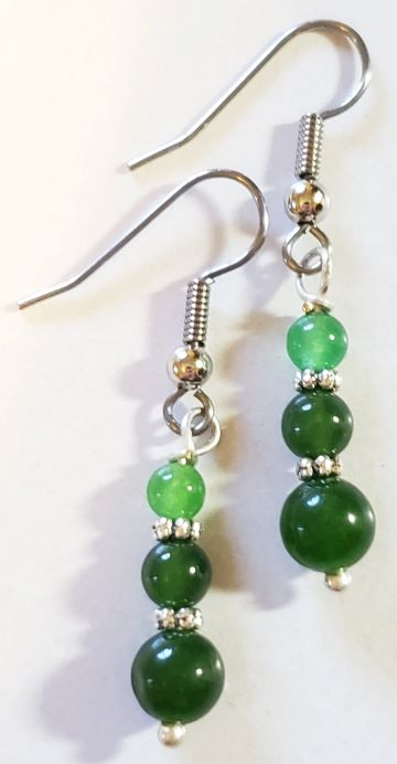 Green Aventurine Jade Earrings