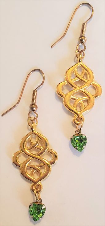 Heart Swarovski Crystal Nouveau Earrings