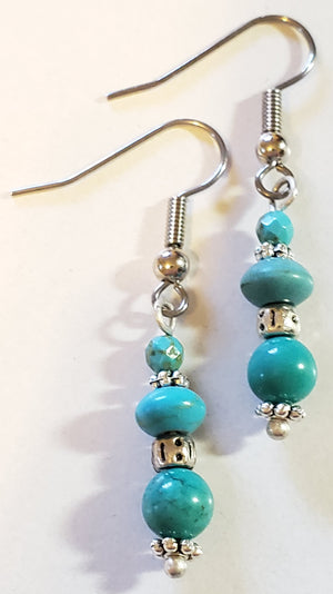 Howlite Turquoise Earrings