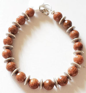 Large Bead Goldstone Bracelet
