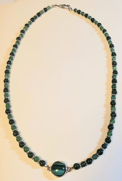 Malachite Green Aventurine Jade Necklace