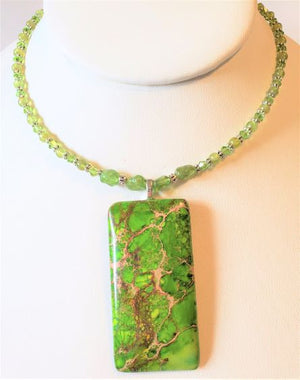 Peridot Magnesite Necklace