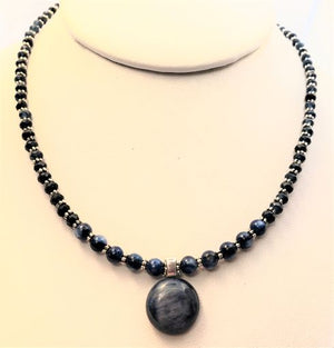 Round Kyanite Necklace