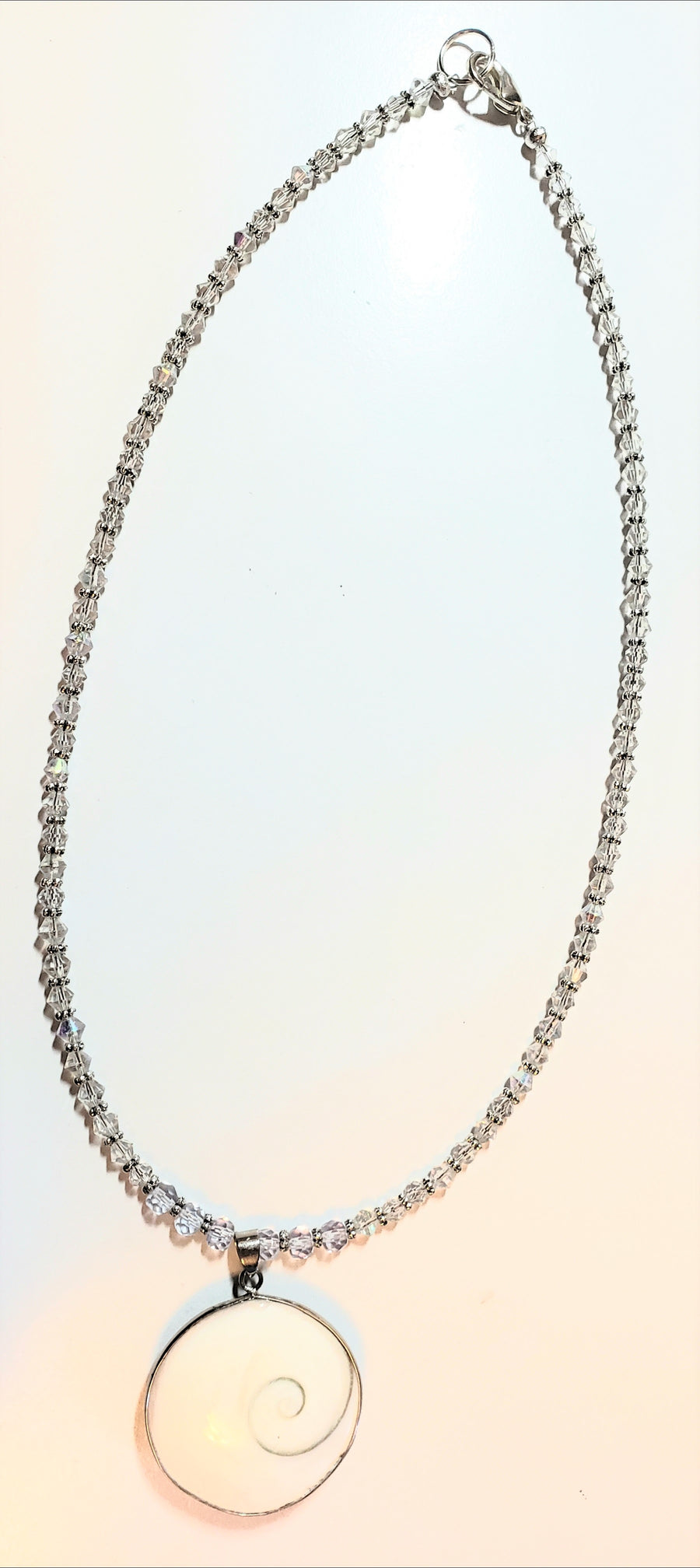 Shell Clear Rondelle Necklace