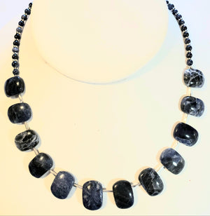 Sodalite Fan Necklace