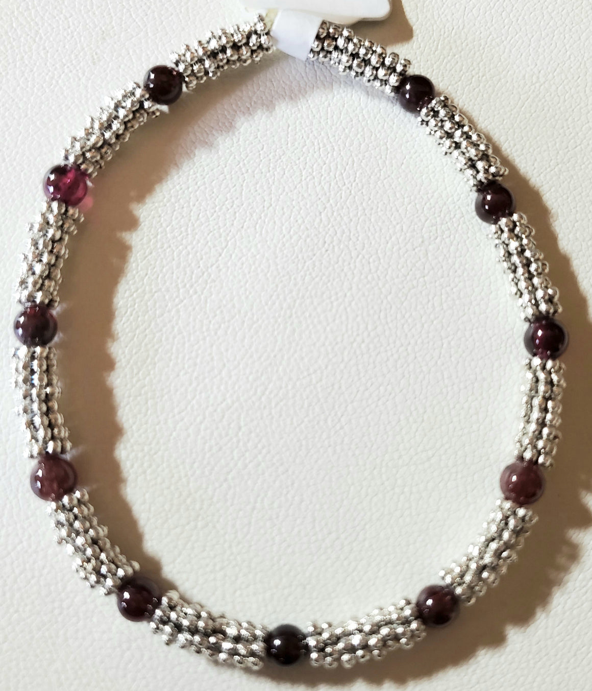 Stackable Garnet Stretch Bracelet