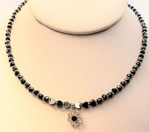 Swarovski Flower Hematite Necklace
