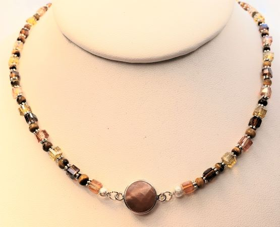 Tiger Eye Carnelian Necklace