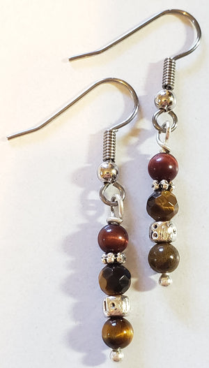 Tiger Eye Dangle Earrings