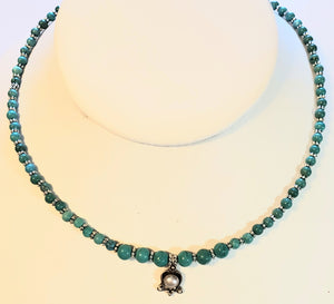 Faux Pearl Howlite Turquoise Necklace